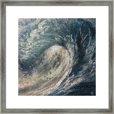 Framed Print featuring the painting Light Wave  by Mia Tavonatti