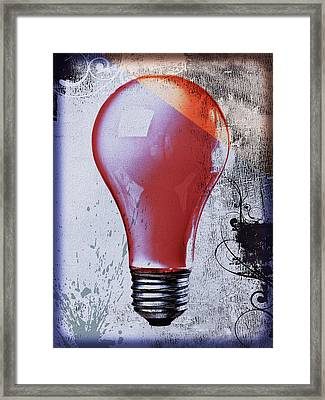 Lightbulb Framed Print by Bob Orsillo