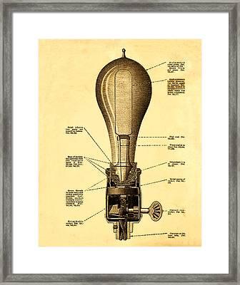 Lightbulb Patent Framed Print by Bill Cannon