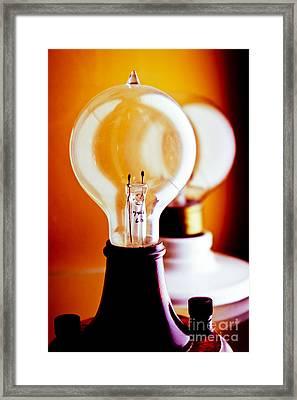 Vintage Light Bulbs Framed Print