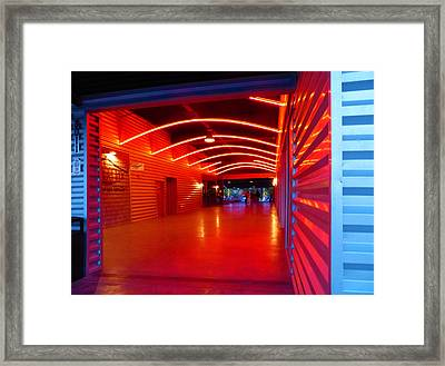 Lighted Breezeway - At Trinity Groves Framed Print