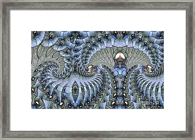 Lighted Cavern Framed Print by Ron Bissett