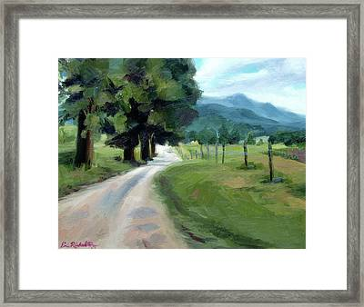 Lighted Path Of Cades Cove Framed Print by Erin Rickelton