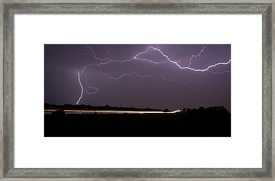 Framed Print featuring the photograph Lightening Bolts by Charles Beeler