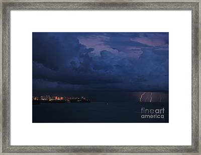 Lightening Framed Print