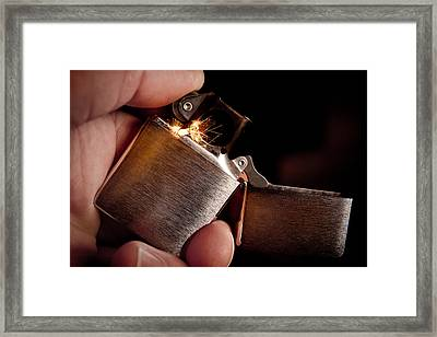 Lighter Framed Print by Rick Rhay