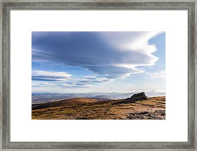Lightfall On Djouce Mountain Summit Framed Print
