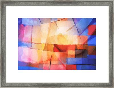 Lightforces Framed Print by Lutz Baar