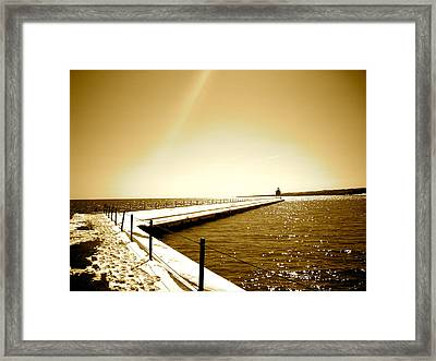 Lighthouse 1 Framed Print by Eric Larson