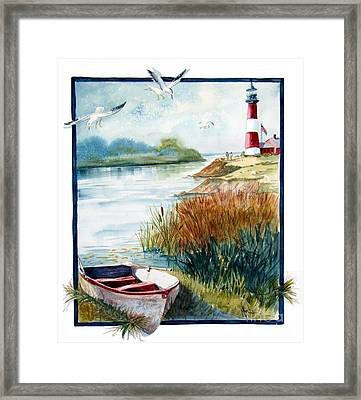 Lighthouse 1 Framed Print by Marilyn Smith