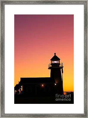Framed Print featuring the photograph Lighthouse 1 by Theresa Ramos-DuVon