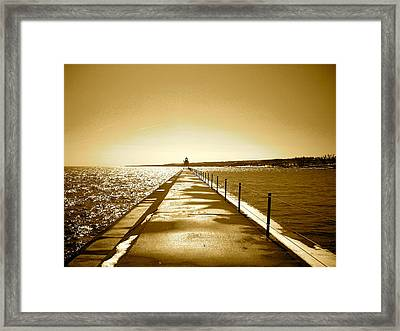 Lighthouse 2 Framed Print by Eric Larson