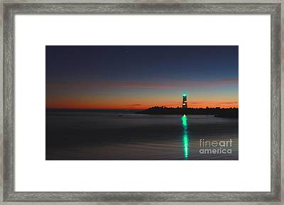 Framed Print featuring the photograph Lighthouse 6 by Theresa Ramos-DuVon