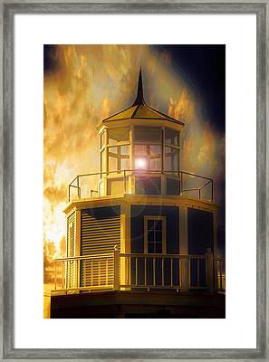 Ocean Framed Print featuring the photograph Lighthouse  by Aaron Berg