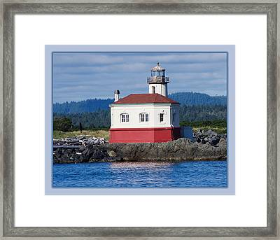 Framed Print featuring the photograph Lighthouse by Adria Trail