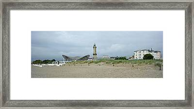 Lighthouse And Hellas Teepott Framed Print