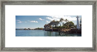 Lighthouse At A Pier, Lahaina, Maui Framed Print by Panoramic Images