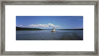 Lighthouse At A River, Esopus Meadows Framed Print by Panoramic Images