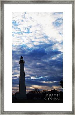 Lighthouse At Cape May Nj Framed Print