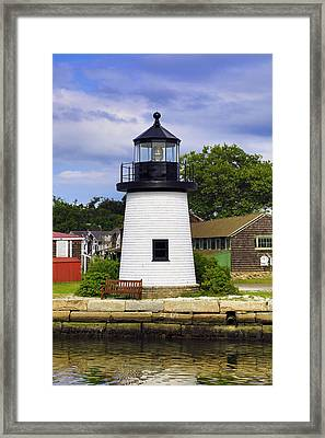 Lighthouse At Mystic Seaport Framed Print