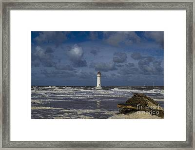 lighthouse at New Brighton Framed Print