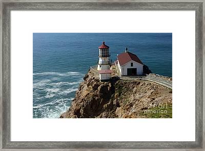 Lighthouse At Point Reyes Framed Print