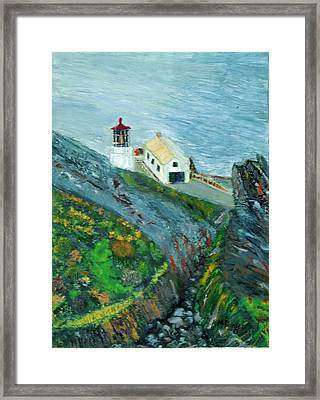 Lighthouse At Point Reyes California Framed Print