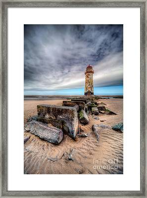 Framed Print featuring the photograph Lighthouse At Talacre  by Adrian Evans