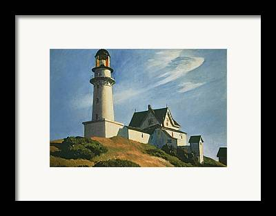 Maine Lighthouses Paintings Framed Prints