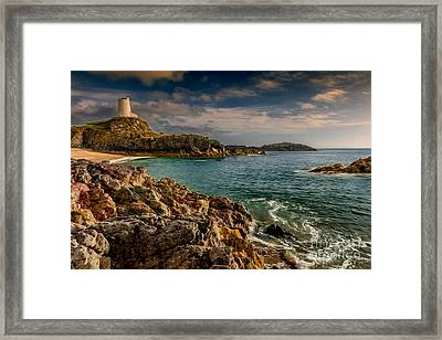 Lighthouse Bay Framed Print by Adrian Evans