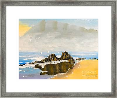 Lighthouse Beach Framed Print