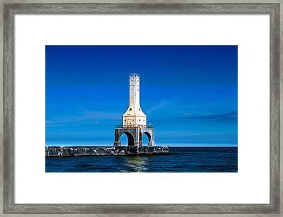 Lighthouse Blues Framed Print