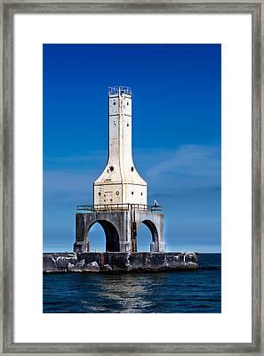 Lighthouse Blues Vertical Framed Print