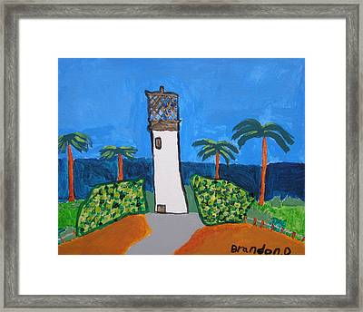 Lighthouse Framed Print by Artists With Autism Inc