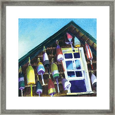 Lighthouse Buoys Maine Framed Print
