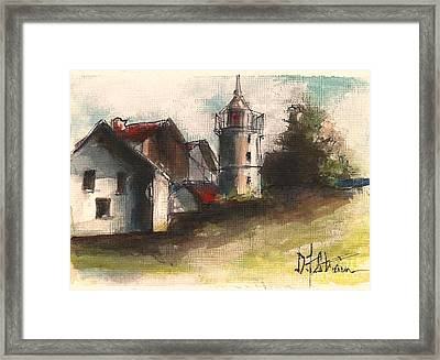 Lighthouse By Day Framed Print