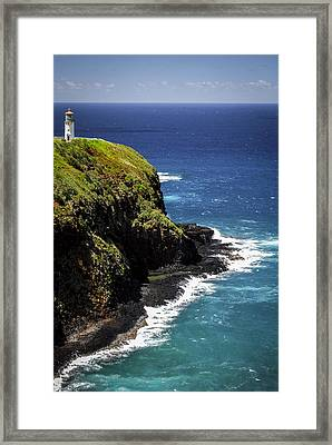 Framed Print featuring the photograph Lighthouse By The Pacific by Debbie Karnes