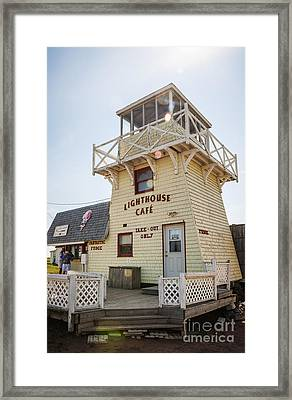 Lighthouse Cafe In North Rustico Framed Print by Elena Elisseeva