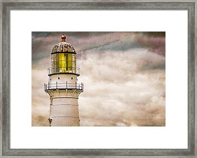 Lighthouse Cape Elizabeth Maine Framed Print by Bob Orsillo