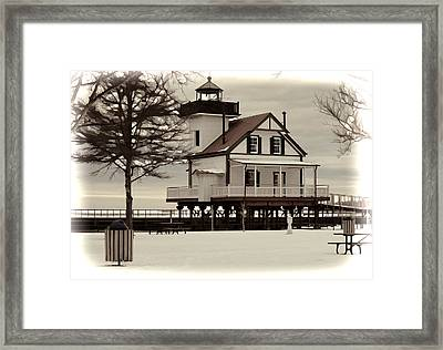 Lighthouse Framed Print by Carolyn Ricks