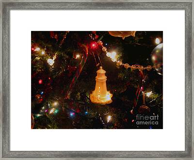 Lighthouse Christmas Framed Print by Roxy Riou