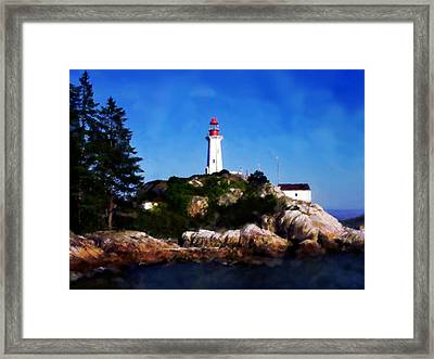 Framed Print featuring the digital art Lighthouse by David Blank