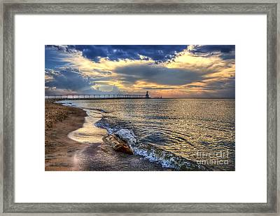 Lighthouse Drama Framed Print