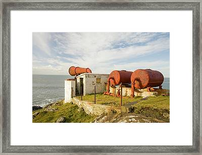 Lighthouse Foghorn At Black Head Framed Print