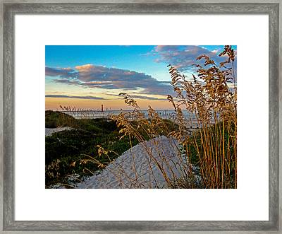 Lighthouse Folly Beach Framed Print