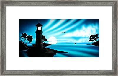 Lighthouse Framed Print by Frank Parrish