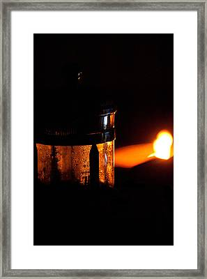 Lighthouse French Press Framed Print by Loriental Photography