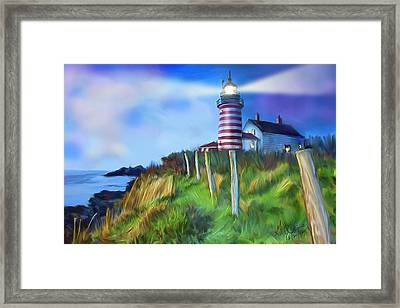 Lighthouse Framed Print by Gerry Robins