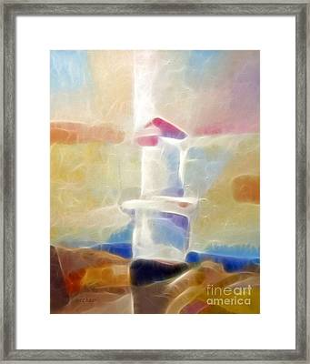 Lighthouse Glow Framed Print by Lutz Baar