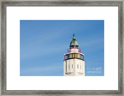 Lighthouse Harlingen Framed Print by Jan Brons